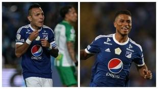 Juan Guillermo Domínguez y César Carrillo, jugadores de Millonarios