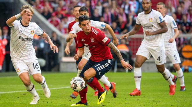 Champions: James vuelve y le da alegría al ataque del Bayern