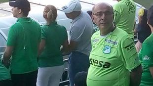 Libio Crismariu, furibundo hincha del club caleño / Twitter
