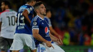 Gabriel Hauche y su gesto obsceno a la afición de Millonarios.