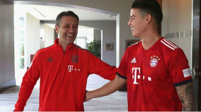 Kovac saluda a James en la pretemporada