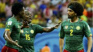 Webó trata de separar a Moukandjo y Ekotto durante el Mundial de...