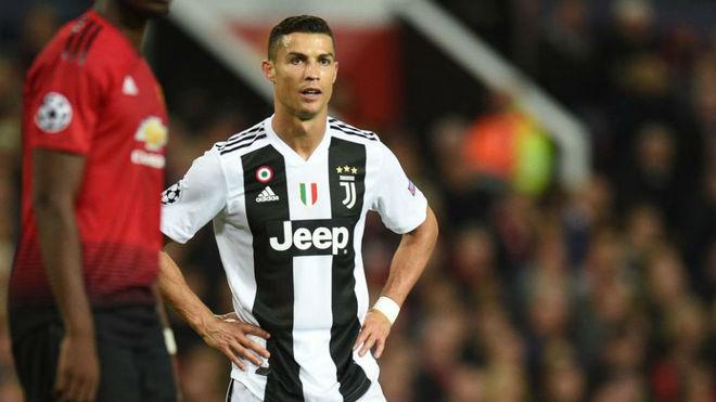Cristiano Ronaldo durante el compromiso ante el Manchester United.