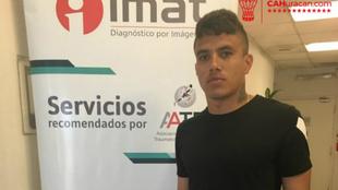 Andrés Roa sufrió una lesión de grado 2 en el ligamento lateral...