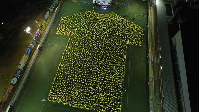 Bucaramanga, Récords Guinness de la 'camiseta humana' más grande