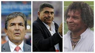 Jorge Luis Pinto, Luis Fernando Suárez y Alberto Gamero.