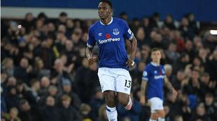 Yerry Mina, el día de su debut con el Everton