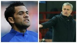 Alves y Mourinho