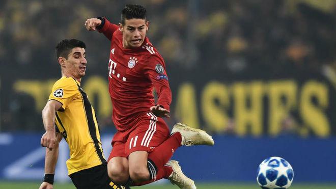 Kovac deja sin minutos a James en la derrota ante el Dortmund