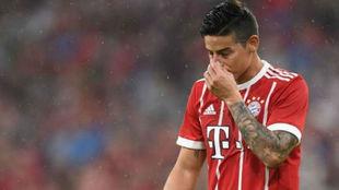 James, durante un partido con el Bayern del pasado curso.