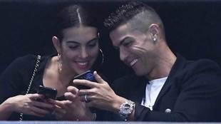 Georgina Rodríguez y Cristiano Ronaldo en las Finales ATP de Londres...