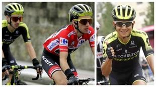 Los hermanos Adam (izquierda) y Simon Yates en la pasada Vuelta a...