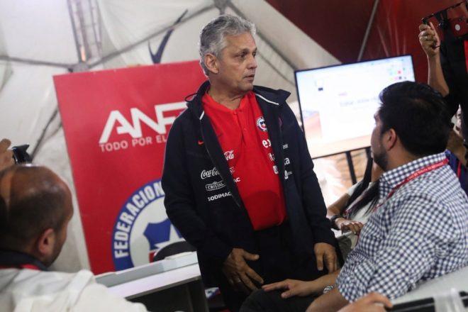 Reinaldo Rueda ante los medios de comunicación.
