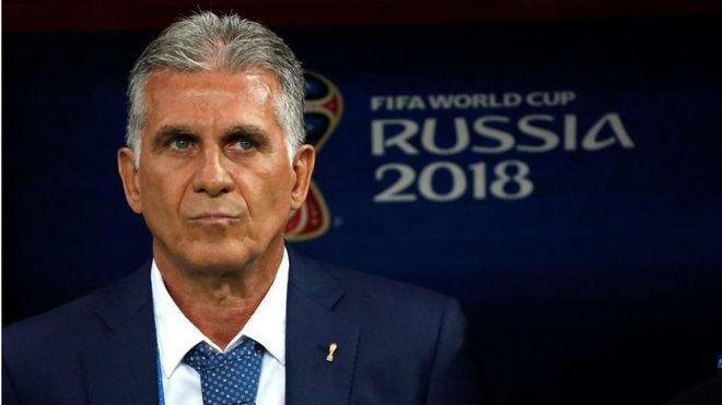 Carlos Queiroz, durante el Mundial de Rusia