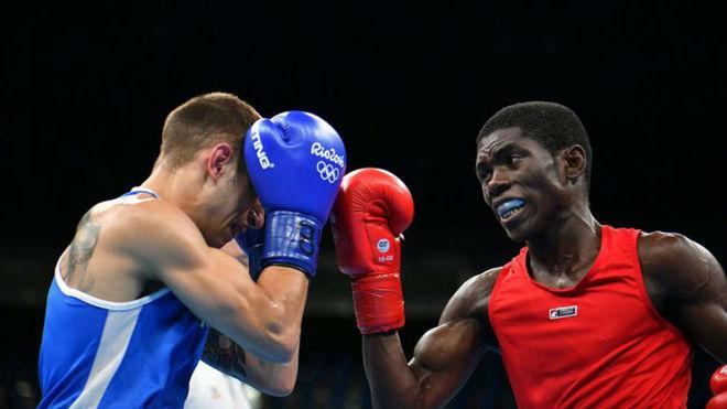 Yuberjen en la pelea con Carmona de los últimos Juegos en Río 2016.