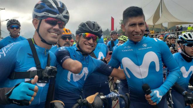 Nairo en su primera Gran Fondo de Ciclismo