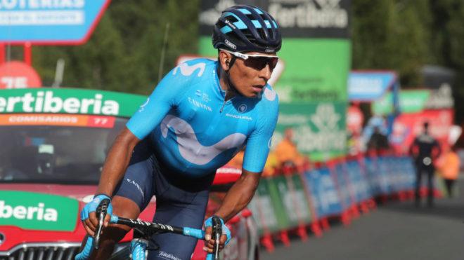 Nairo en la pasada Vuelta a España / Movistar Team