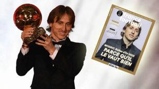 Modric, con el soñado Balón de Oro