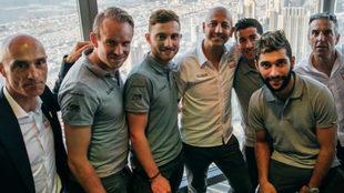 Matxin con los colombianos Sergio Luis Henao y Fernando Gaviria en...