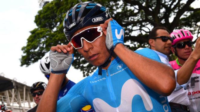 Quintana antes de empezar la etapa en Palmira.