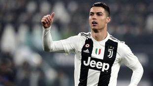 Cristiano celebra un gol con la Juventus