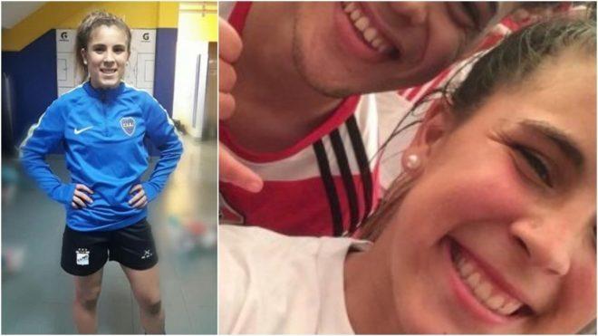 Nicole Simonetti juega en Boca, es hincha de River y recibió amenazas