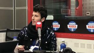 Sebastián Yatra, durante su entrevista en Radio MARCA