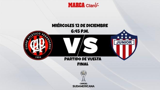 Atlético Paranaense vs Junior - en vivo minuto a minuto