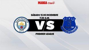 Manchester City vs Everton, horario y dónde ver.