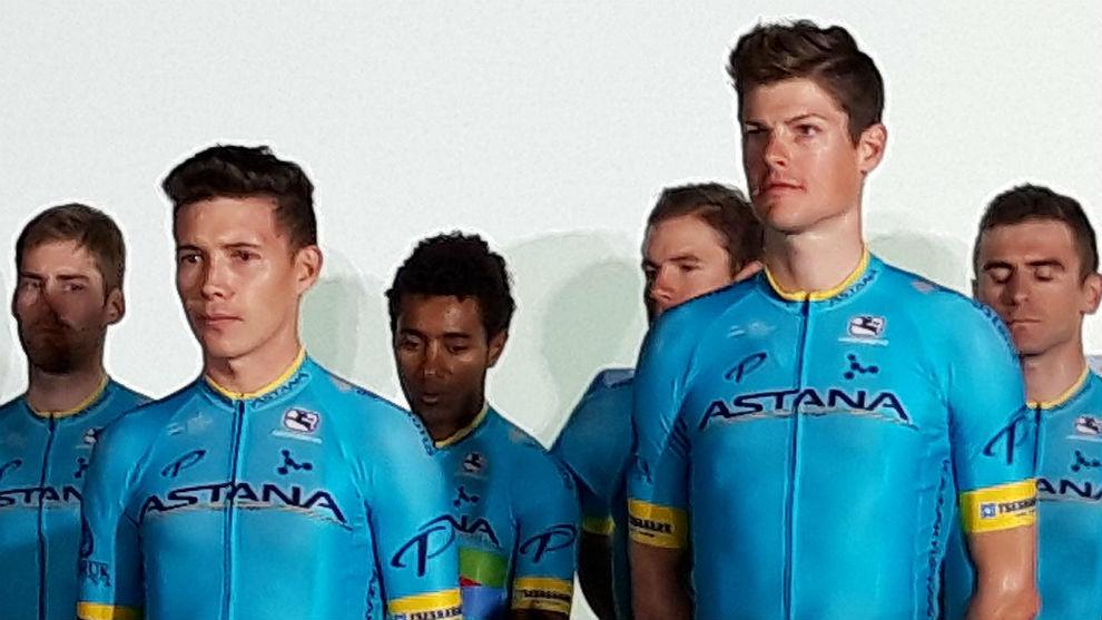 Miguel Ángel López y Jakob Fuglsang, líderes confesados del Astana...