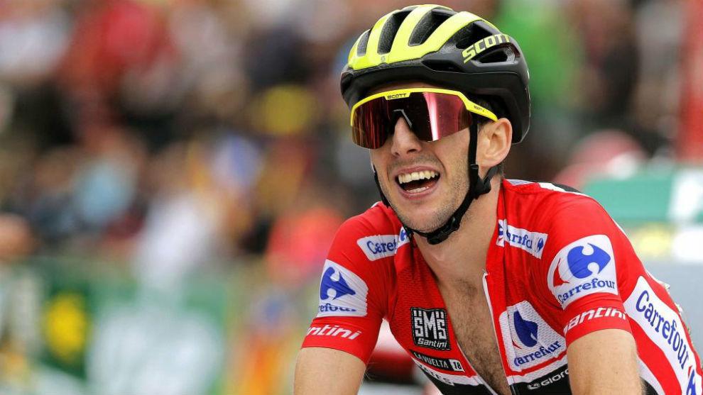 Simon Yates durante una etapa de la Vuelta Ciclista a España