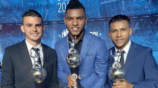 Benedetti, Borja y Morelo recogen el premio de máximos goleadores de...
