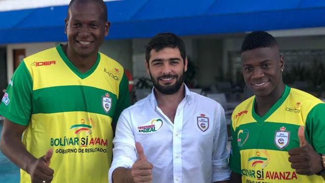 Roberto Vergara presenta a dos nuevos fichajes para el Cartagena...