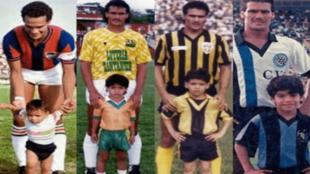 Radamel García posa con Falcao de niño en los distintos equipos en...