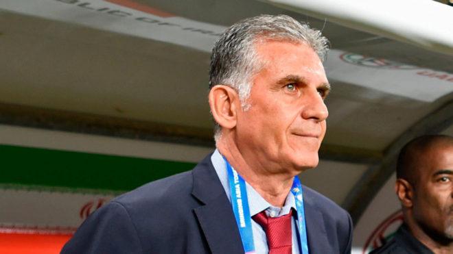 Carlos Queiroz, en la Copa Asia con Irán