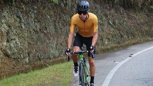 Rigoberto Urán, entrenándose en Colombia