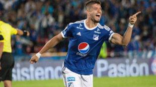 Matías de los Santos, autor del único gol del juego.