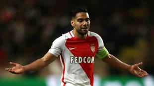 Radamel Falcao, en un partido con el Monaco