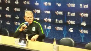 Paulo Autuori en rueda de prensa tras el partido contra América.