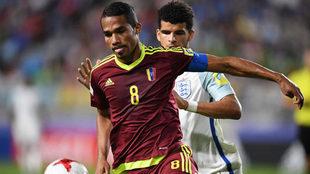Yangel Herrera controla un balón durante el Mundial sub 20 de junio...