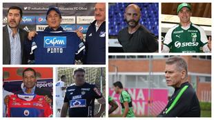 Algunos entrenadores que estarán dirigiendo en la Liga Águila 2019.