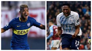 Wilmar Barrios y Yerry Mina, jugadores colombianos.