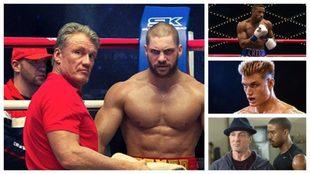 Ivan Drago junto a su hijo Viktor, Adonis Creed y Rocky / Warner Bros