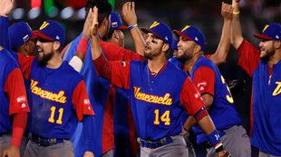 Selección venezolana de béisbol en acción / Agencias