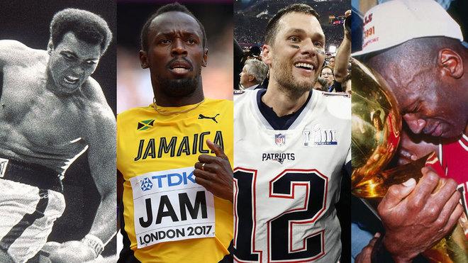 Alí, Bolt, Brady y Jordan