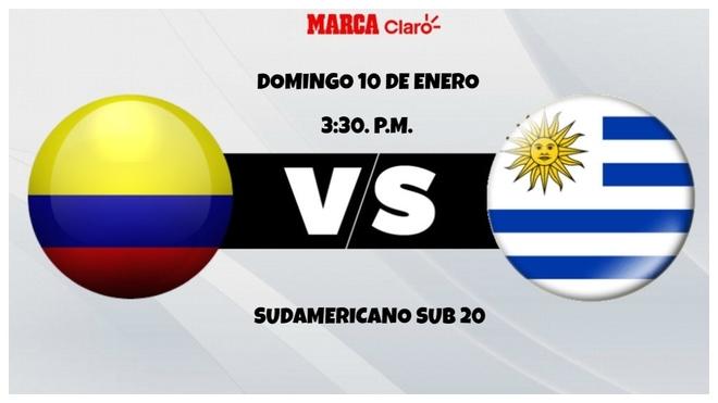 Colombia vs Uruguay, horariO y dónde ver en TV