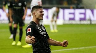 Jovic celebra un gol esta temporada