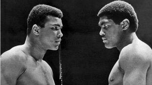 Muhammad Ali y Ernie Terrell en el pesaje