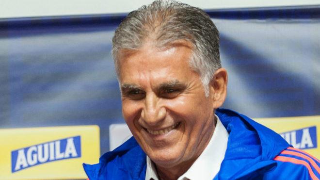 Carlos Queiroz durante su presentación como nuevo DT de la Selección...