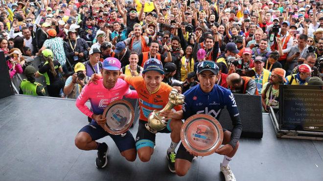 Martínez, López y Sosa, la juventud en el podio del Tour Colombia...